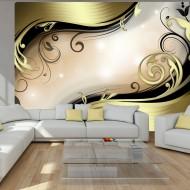 Papier peint  Wavy gold