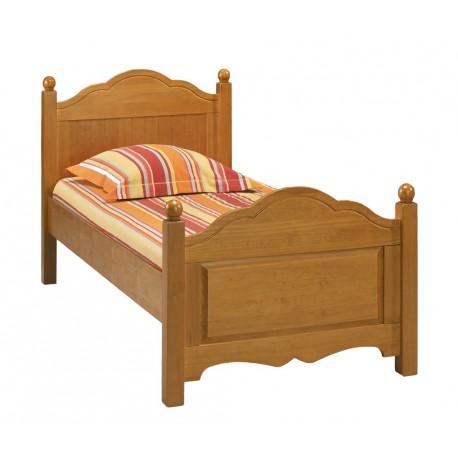 lit 90 x 190 pin miel 1 place avec sommier et matels beaux meubles pas chers. Black Bedroom Furniture Sets. Home Design Ideas