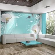 Papier peint  Charming turquoise