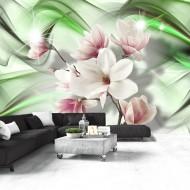 Papier peint  Magnolia  Green Wave