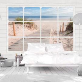Papier peint - Window & beach - Beaux Meubles Pas Chers