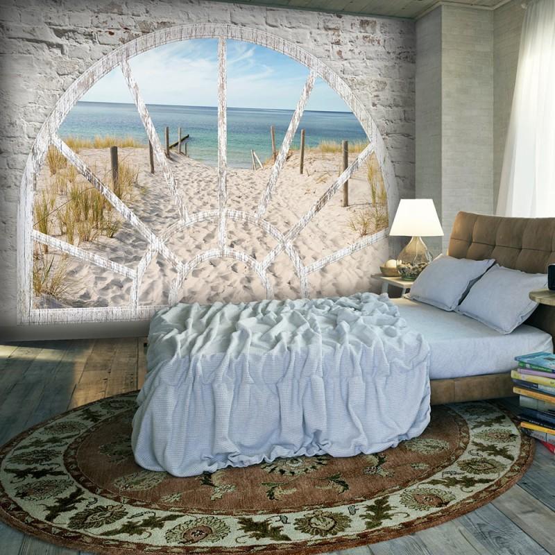 Papier peint - Window View - Beach - Beaux Meubles Pas Chers
