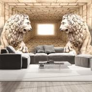 Papier peint  Mystery of lions