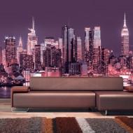 Papier peint  NYC Purple Nights