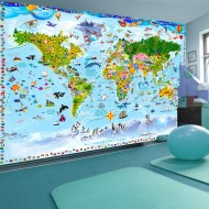 Papier peint  World Map for Kids