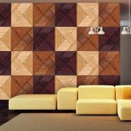 Papier peint  Mosaique en bois