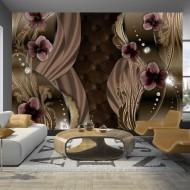 Papier peint  Burgundy pansies