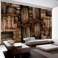 Papier peint  Puzzle de bois