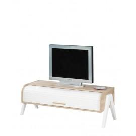 Meuble TV Vintage Rideau Blanc