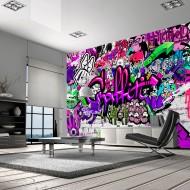 Papier peint   Purple Graffiti