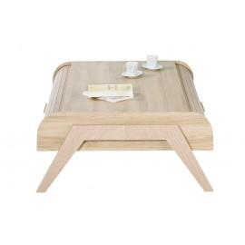 Table Basse Vintage Rideaux Chêne