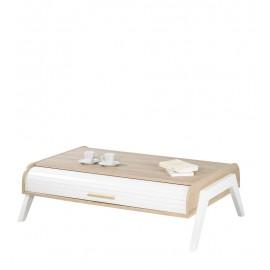 Table Basse Vintage Rideaux Blancs