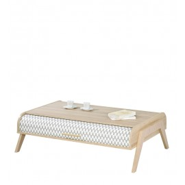Table Basse Vintage Rideaux Vagues