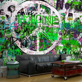 Papier peint - Green Graffiti