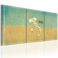 Tableau  carte Italie