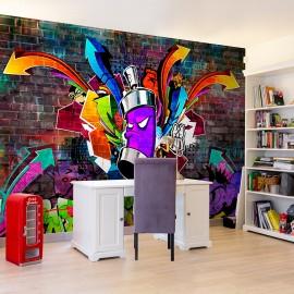 Papier peint - Graffiti: Colourful attack