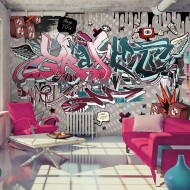 Papier peint  Graffiti hey You!