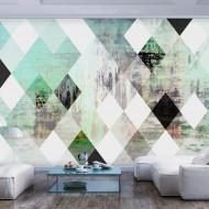 Papier peint  Rhombic Chessboard (Green)