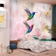 Papier peint  Colourful Hummingbirds (Pink)