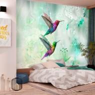 Papier peint  Colourful Hummingbirds (Green)
