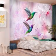 Papier peint  Colourful Hummingbirds (Purple)