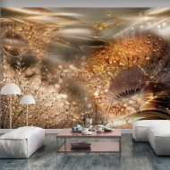 Papier peint  Dandelions World (Gold)