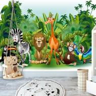 Papier peint  Jungle Animals