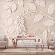 Papier peint  Paper Flowers (Beige)
