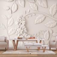 Papier peint  Paper Flowers (Cream)