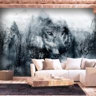 Papier peint  Mountain Predator (Black and White)