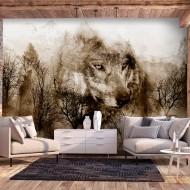 Papier peint  Mountain Predator (Brown)