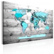 Tableau  World Map Blue World