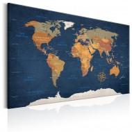 Tableau  World Map Ink Oceans