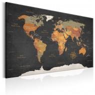 Tableau  World Map Secrets of the Earth