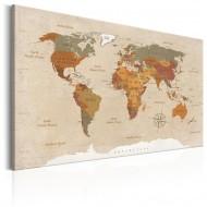 Tableau  World Map Beige Chic