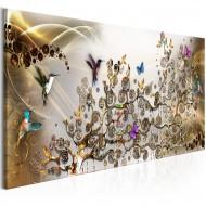Tableau  Hummingbirds Dance (1 Part) Gold Narrow