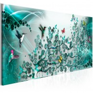 Tableau  Hummingbirds Dance (1 Part) Turquoise Narrow
