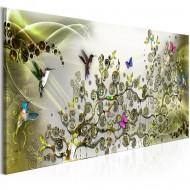 Tableau  Hummingbirds Dance (1 Part) Green Narrow