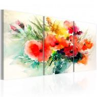 Tableau  Watercolor Bouquet