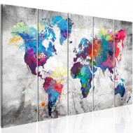 Tableau  World Map Spilt Paint