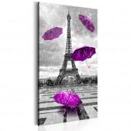 Tableau  Paris Purple Umbrellas