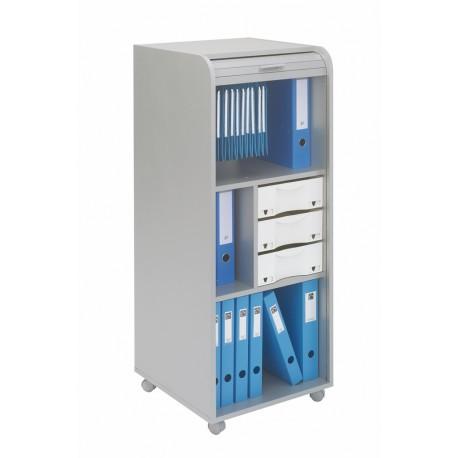 Grand caisson de bureau mobile coloris alu beaux meubles for Meuble bureau mobile