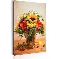 Tableau  Autumnal Flowers