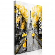 Tableau  Autumn in Paris (1 Part) Vertical