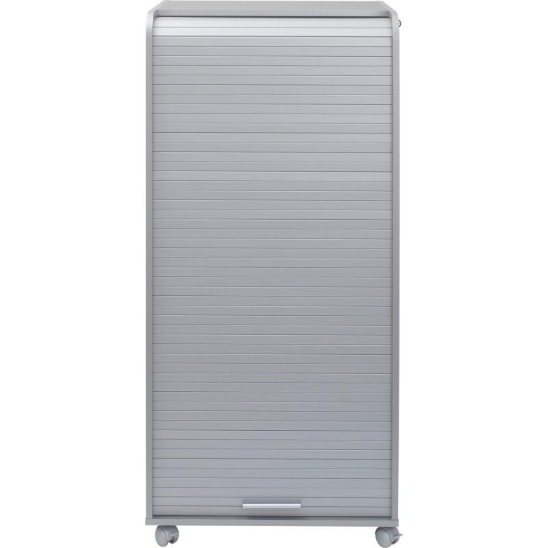 Armoire informatique mobile 2 tiroirs coloris alu beaux for Meuble armoire informatique