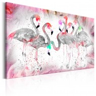 Tableau  Flamingoes Family