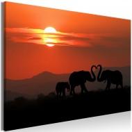 Tableau  Elephants in Love (1 Part) Wide