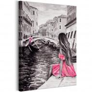 Tableau  Woman in Venice (1 Part) Vertical
