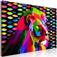 Tableau  Rainbow Lion (1 Part) Wide