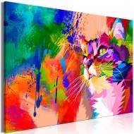 Tableau  Colourful Cat (1 Part) Wide